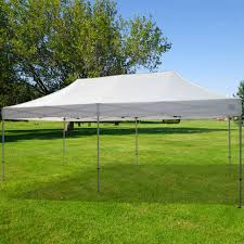 10 X 20 Shade Canopy by Quik Shade Commercial C200 Straight Leg 10 X 20 Ft White Instant
