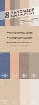 8 handmade paper patterns