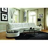 amazon com modern circle sectional sofa set with table off