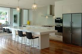 kitchen islands with bar stools extraordinary kitchen island with bar counter and black leather