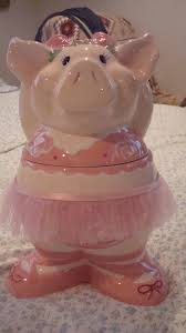 ballerina pig cookie jar i love cookie jars pinterest pig