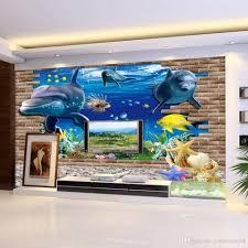 3d Wallpaper Home Decor 3d Wallpaper Mural 3d Seabed Fish Wall Sticker Nursery Wall Decor
