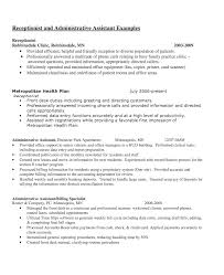 receptionist experienced resume sample resumedoc