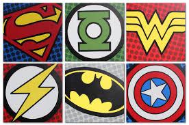 vintage superhero room hero logo superhero and logos