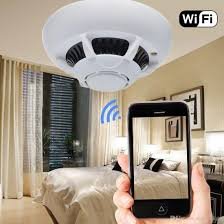 bedroom spy cams hd wifi wireless spy hidden camera smoke detector security video dvr