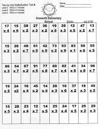 two by one multiplication worksheets worksheets