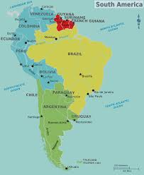 Map Of America And Cities by Map Of South America With Capitals Throughout Map Of South America