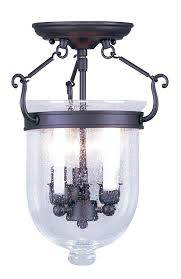 Jefferson 9 Light Chandelier Traditional - livex lighting 5081 07 jefferson 3 light bronze bell jar semi