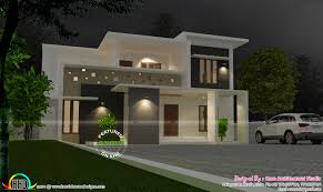 grand looking flat roof villa home architecture pinterest