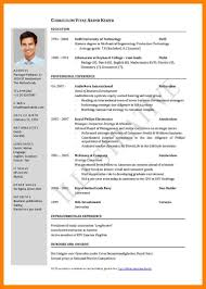 6 standard cv form download cv for teaching