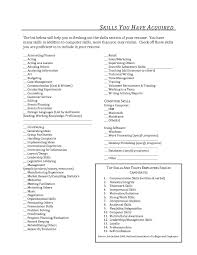 Manager Skills Resume List Of Abilities For Resume Free Resume Example And Writing