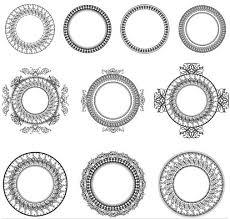 circle ornament frames ai format free vector