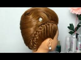 images of braids with french roll hairstyle french twist hairstyle for long medium hair updo with braid youtube