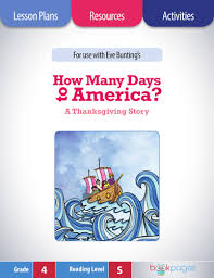 how many days to america lesson plans activities package fourth