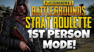 pubg strat roulette 1st person only mode pubg strat roulette youtube