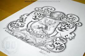 rampant lion coat of arms tattoo download dark design graphics