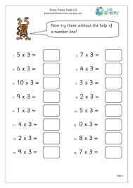 math times tables worksheets worksheets