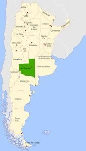 Map Argentina La Pampa Province Wikipedia