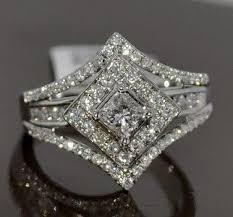 princess cut wedding ring best 25 princess cut wedding rings ideas on