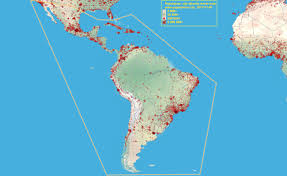 America Latina Map by Map Exercise Maps Population Landscape And Climate Estimates