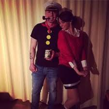 Popeye Olive Halloween Costume Popeye Olive Oil Couple Costume Diy Couples Halloween