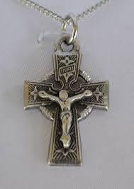 celtic crucifix 1 pewter celtic crucifix necklace