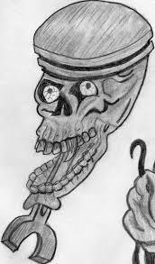 skull with pistons tattoo designs drawings pictures to pin on