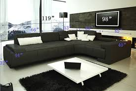 Modern Sectional Sofa With Chaise Franco Collection Modern Sectional Sofa Black Tos Lf 1007 Black