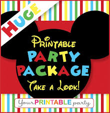 colors minnie mouse invitation template free download together