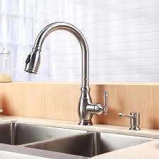 Moen Brushed Nickel Faucets Brilliant Moen Brushed Nickel Kitchen Faucet Photo For Home