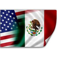 Mexican Flag Eagle Amazon Com Sticker Decal With Flag Of Mexico And Usa Mexican