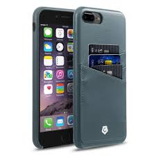 grayish blue leather textured back cover for iphone 7 plus