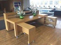 Oak Reception Desk Substantially Reduced For Quick Sale Magnificent Oak Veneer