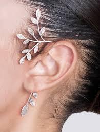 ear cuffs shirli s jewelry ear cuffs silver statement tree ear cuff