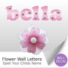 wall letter alphabet initial sticker vinyl stickers decals name flower name wall letter stickers