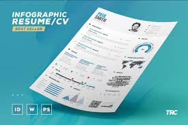 Infographic Resume Creator by Infographic Resume Vol 1 Psd Indd Docx By The Resume Creator