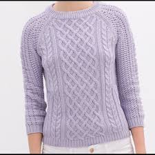 56 off zara sweaters zara lavender chunky cable knit sweater s