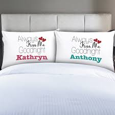 personalized pillow personalized couples always me pillow cases moogram online