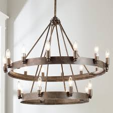 Iron Ring Chandelier Industrial Ring Chandelier Shades Of Light