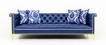 Leather Blue Sofa Www Roomservicestore Sinatra Sofa In Navy Faux Leather