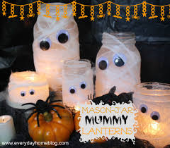 Mason Jar Halloween Lantern Mason Jar Mummy Lanterns The Everyday Home