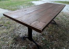 Making A Solid Wood Table Top by Furniture Makeover Ugly Formica Table To Dark Walnut Library