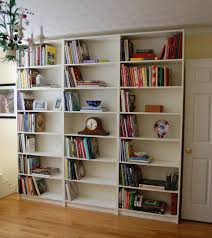 cheap vertical ikea hemnes bookcase for simple family room storage