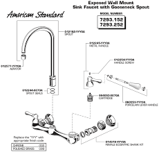 american standard kitchen sink faucets tremendeous kitchen sink faucet parts american standard