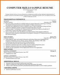 Resume Computer Skills Sample by Resume Examples With Computer Skills
