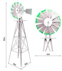 1800mm metal ornamental garden windmill garden windmills