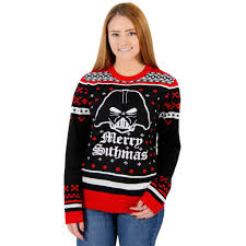 wars darth vader merry sithmas tacky sweater