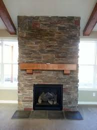 fireplace with stone veneer home design ideas
