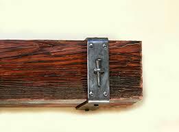 wrought iron spike mantel straps