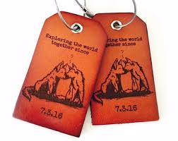 unique luggage tags custom wolf gift etsy